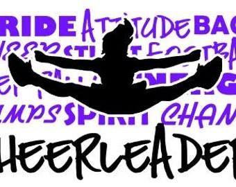 Cheerleader Custom Vinyl Decal Cheerleading Sticker Car Window Decal