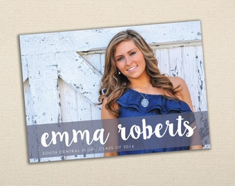 High School Graduation Invitation - Photo Graduation Announcement, Printed, Affordable, Party, Senior Photos, Class of, Invite, Cheap