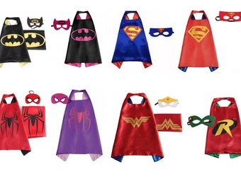 Adult Superhero Capes and Mask sets