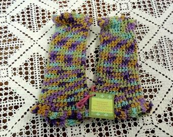 Hand-crocheted Arm Warmers