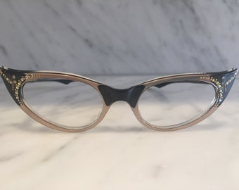 womens NOS cat eye glasses with stones