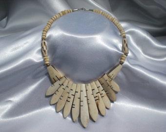 Old Tribal Necklace Bone