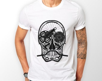 Cool Bike parts Skull design shirt, perfect cyclist gift