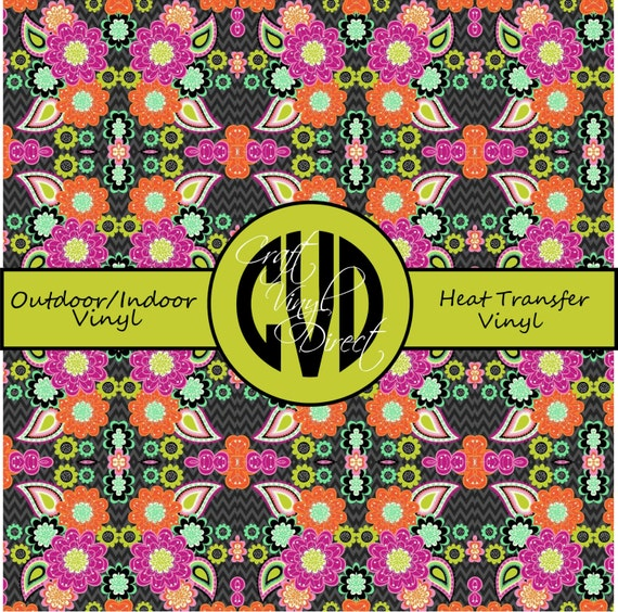 Beautiful, Vibrant Patterned Craft Vinyl and Heat Transfer Vinyl in Pattern 259
