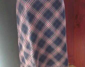 Worthington Plaid Bias Cut Skirt