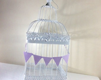 Birdcage Large Gift card holder Wedding/Bridal Shower Birdcage White Birdcage Shower Decor Bird Cage Card Box All occasion card box holder