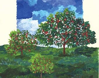 1995 National Cherry Festival Print