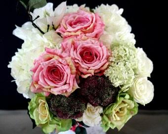 Artificial Flowers bouquet - Pastel