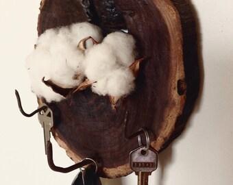 Black walnut key holder