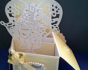 Beautiful Handmade 30th Pearl wedding Anniversary Pop up greetings Card