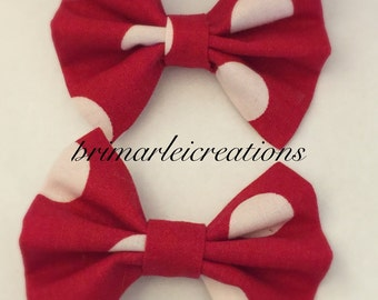 2 Minnie Mouse inspired hair bows