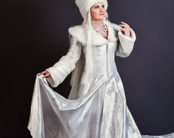 The Snow Queen's Coat (bonus with purchase - handcrafted Necklace)