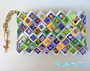 Disney princess,Tinkerbell wallet, Peter Pan wallet, Disney wallet, candy wrapper, Handmade wallet, girly wallet, eco friendly wallet