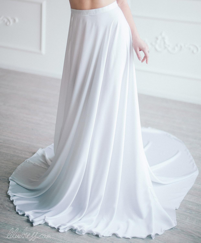 wedding skirt silk bridal skirt white maxi skirt simple
