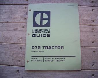 Caterpillar D7G Tractor Maintenance Guide