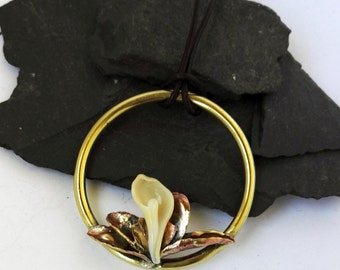Lily pendant and ring