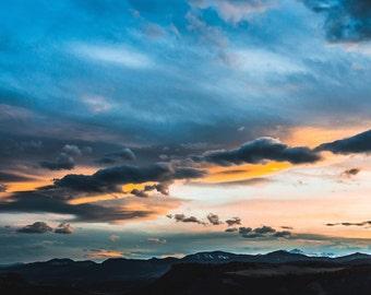 Sky Photography - Sky and Clouds Photo - Blue Sky Print - Sunshine - Nature Print - Digital Photo - Digital Download - Living Room Decor