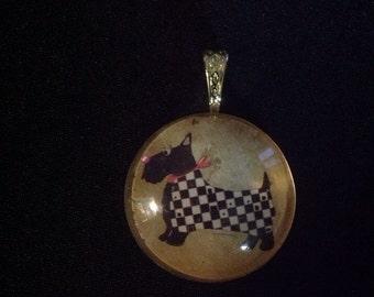 Scottish-terrier pendant/pendantif de scottish-terrier