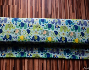 Elephant fabric, cotton-Jersey Green