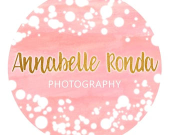 Lights Circle Logo - Premade Photography Logo & Watermark - Watercolor - Photography - Business Branding
