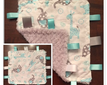 Baby Tag Blanket - Assorted Patterns and Colors! Ready to Ship!