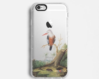 Birds iPhone 7 Plus case, iPhone 7 case, iPhone 6s plus case, iPhone 6s case, iPhone SE case, clear case, yellow green drawing C108