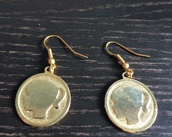 Girl silhouette earrings
