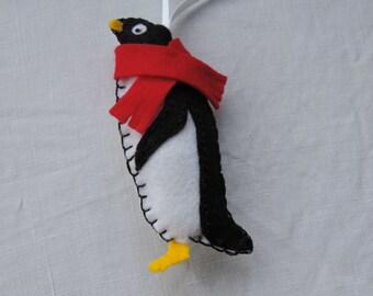 Felt Penguin w Hanger