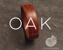 Oak Ring - Handmade Natural Organic Bentwood Wooden Artisan Ring Alternative Wedding Ring