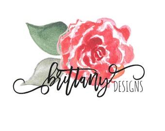 Watercolor Rose Logo