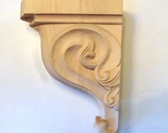 Large Heavily Carved Ornamental Maple Corbel Bracket
