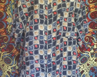 Button Up Abstract Shirt
