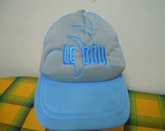 RARE Vintage LE COQ Sport cap hat free size for all