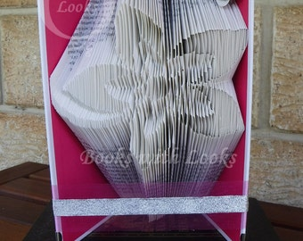 Stunning flower - Folded Book Art - Ideal Mother's Day gift - Ready to ship