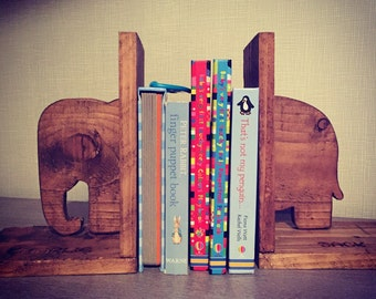 Handmade Wooden Animal Bookends