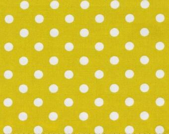 Dumb Dot Citron  - HALF YARD - Michael Miller - Cotton Fabric - Quilting Fabric