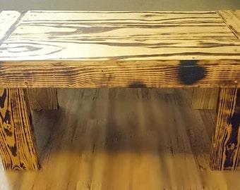 Burnt Wood Coffee Table