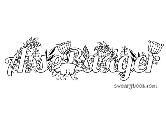 swear word coloring book pages - photo#16