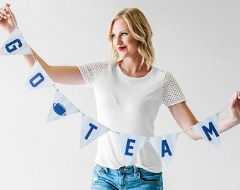 """1 """"Go Team"""" Banner ~ Choice of 1 of the 3 colors shown"""