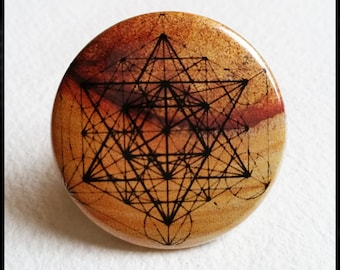 """Sacred geometry Button 1.5"""""""
