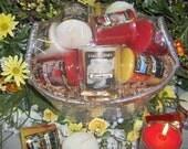 Votive Candle Gift Basket-Floral
