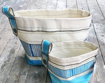 Soft Bucket Stripe Blue