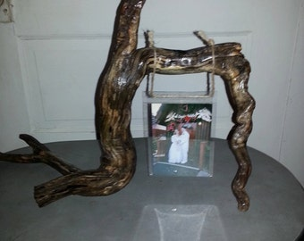 Double sided picture frame made out of driftwood, woodworking, picture frames, reclaimed wood, homemade