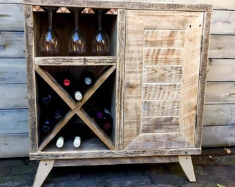 Rustic Wine Storage Unit/ Small Sideboard/Small Cabinet