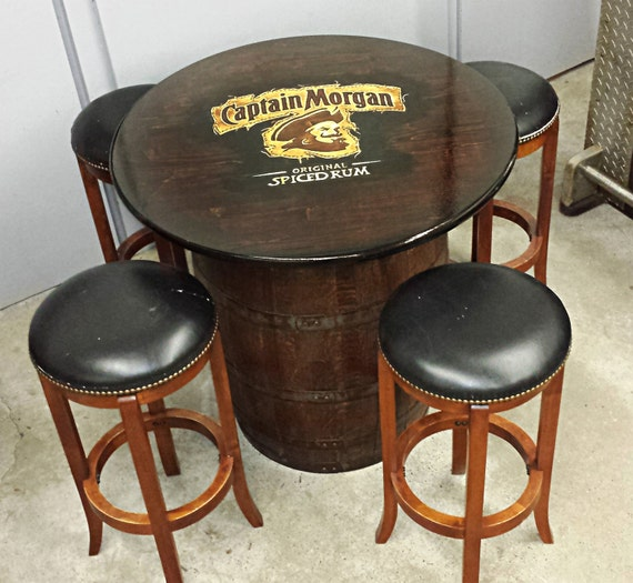 Captain Morgan Whiskey Rum Barrel Table For By Whiskeycartel