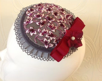Floral Lace Fascinator