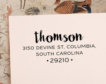 Custom address stamp pre-inked save the date personalized stamp - Return address stamp - TYPE 48