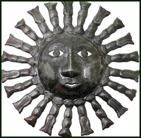 sun metal wall art 24 haitian metal art sun metal