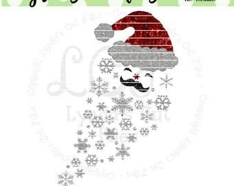 Snowflake Santa//Christmas SVG/DXF/EPS file