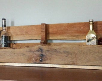 Long Whiskey Bottle / Wine Bottle Shelf